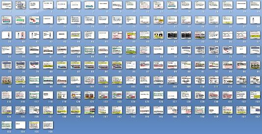 150枚以上のスライドを小さく並べてみた