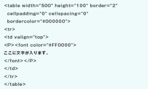 HTMLで見栄えを整えた場合