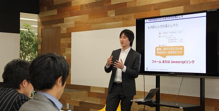 講師の實川くんが講義している写真