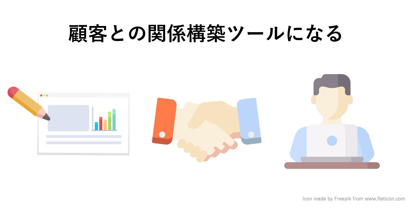 定期的なコンテンツの配信が顧客との関係構築ツールになる