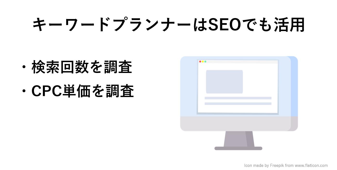 キーワードプランナーで検索VOL、CPC単価を確認する