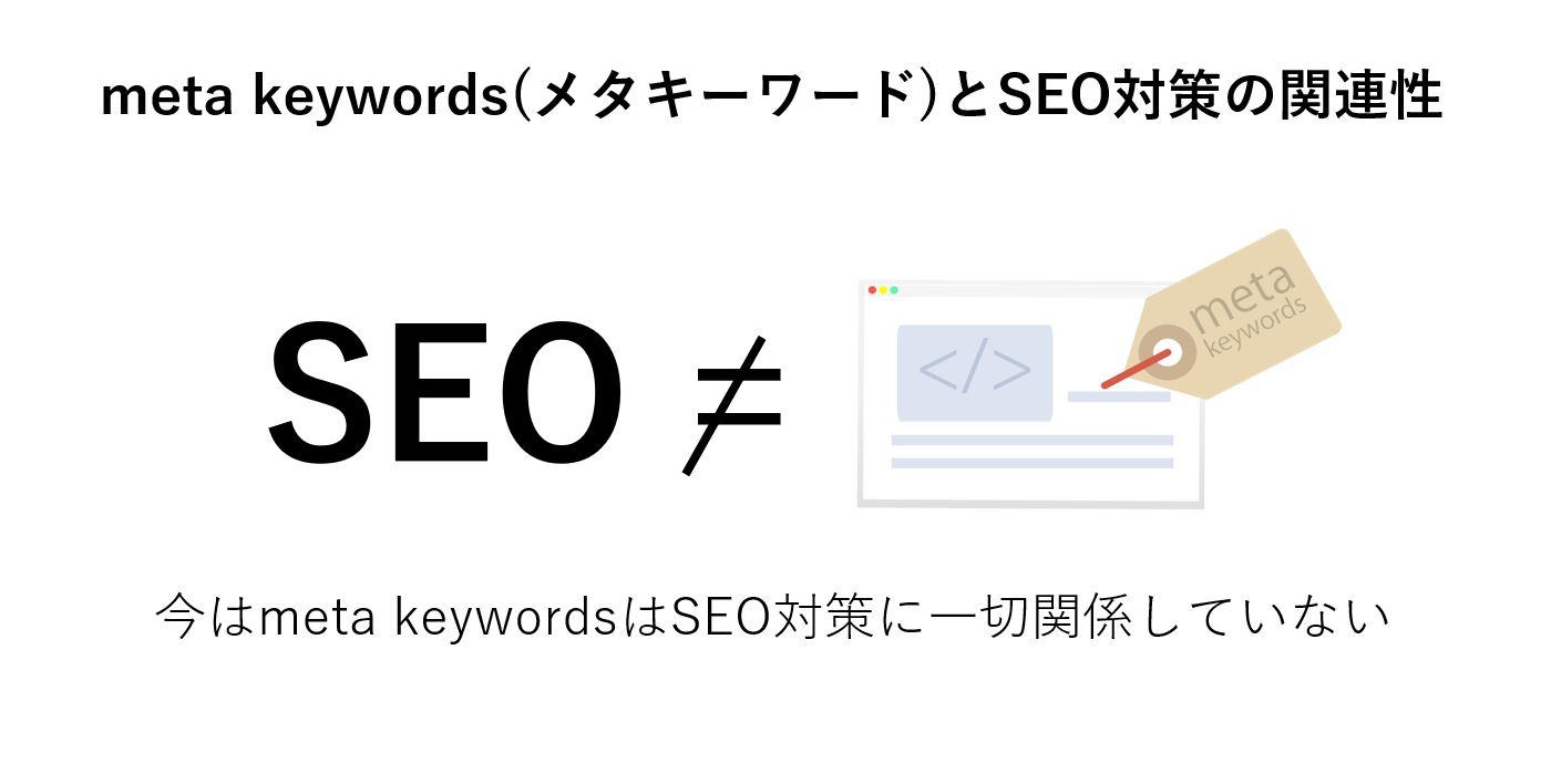 メタキーワードとSEOの関係
