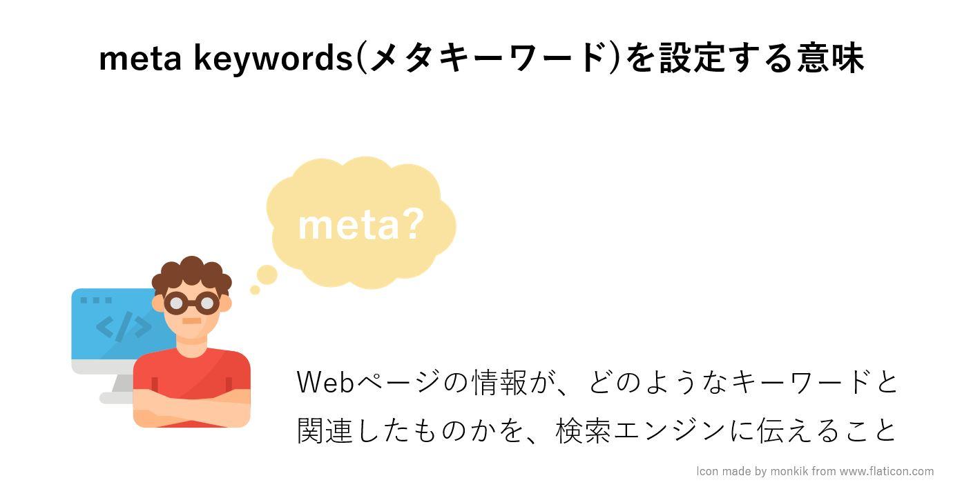 メタキーワードを設定する意味