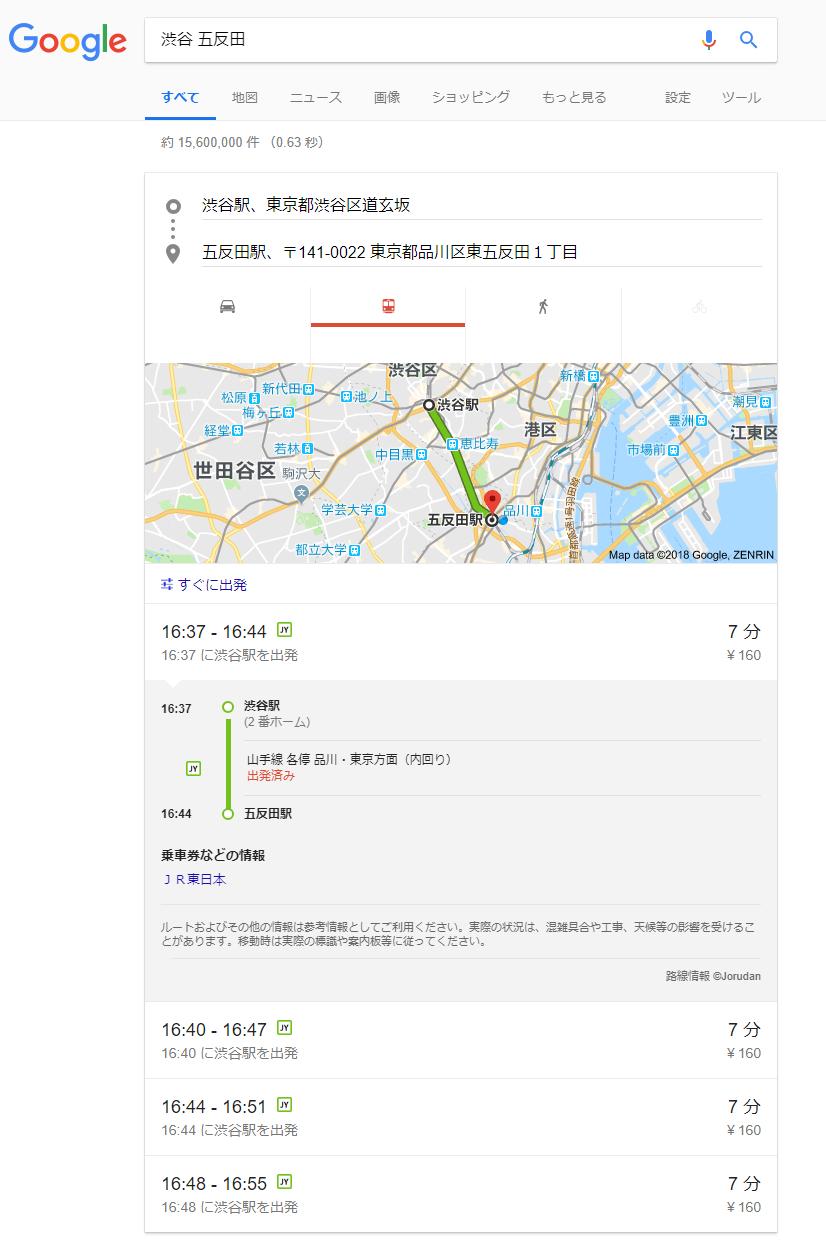ナレッジグラフ_渋谷 五反田 - Google 検索