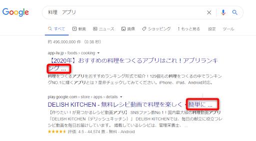 検索結果に表示される文字数を意識する