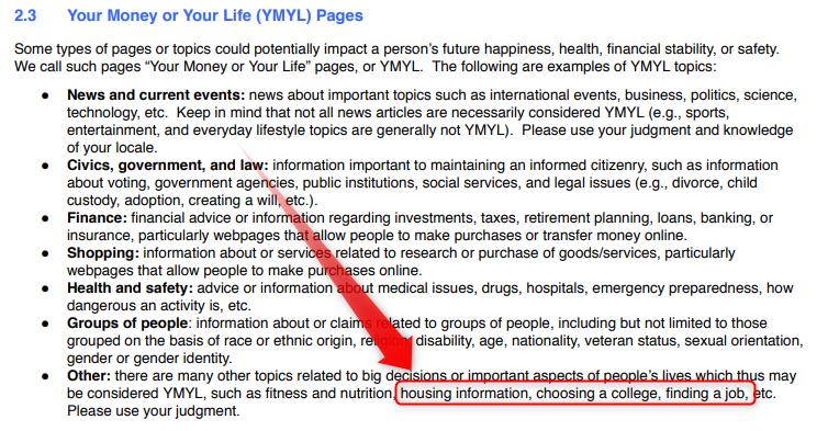 Googleが定義するYMYLとは