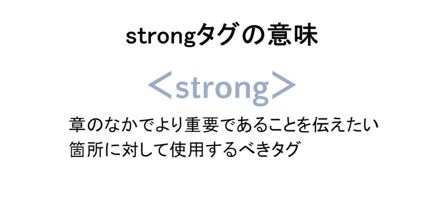 strongタグの意味
