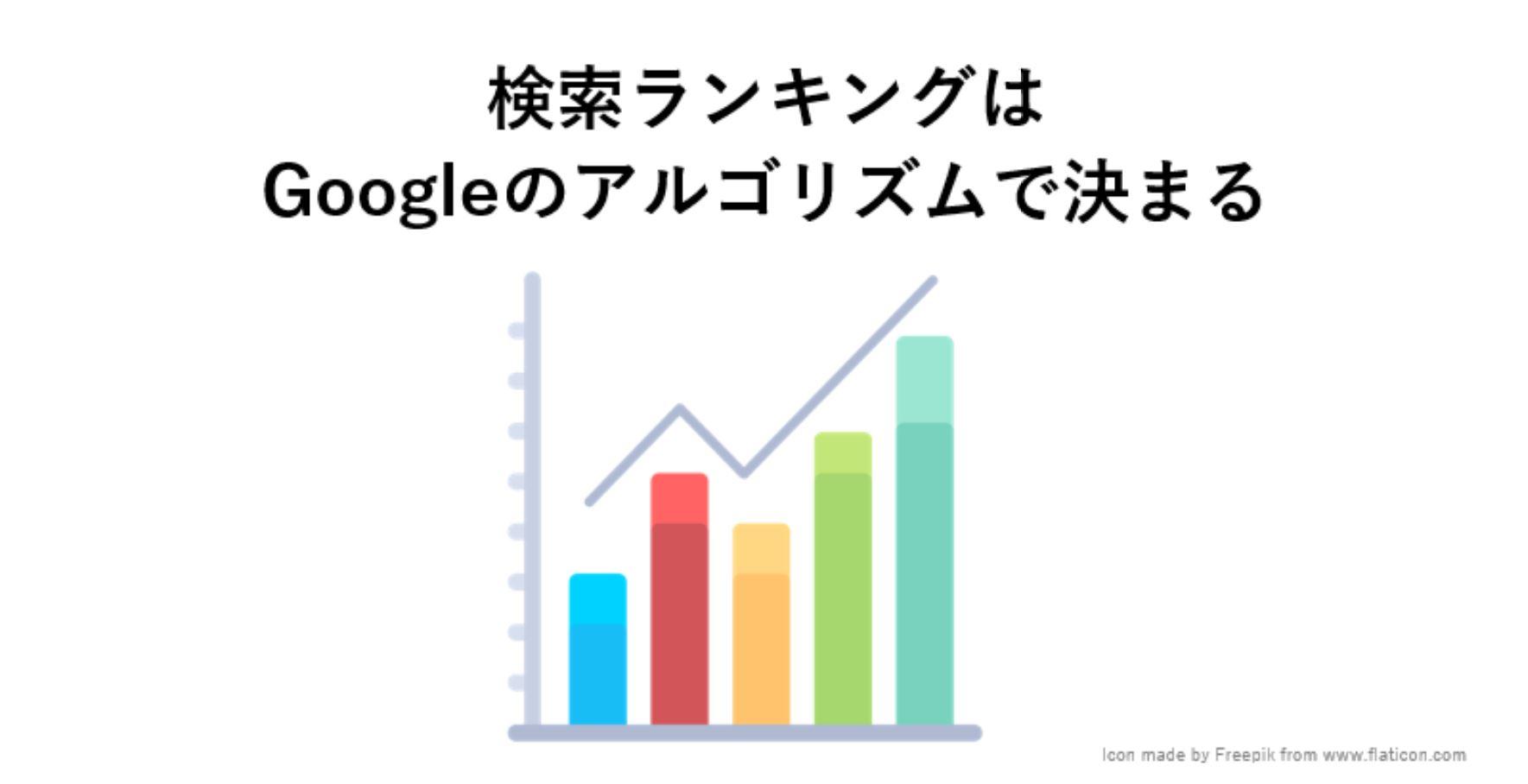 検索ランキングはGoogleのアルゴリズムで決まる