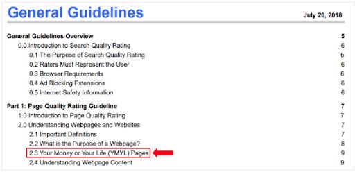 Googleの検索品質評価ガイドライン