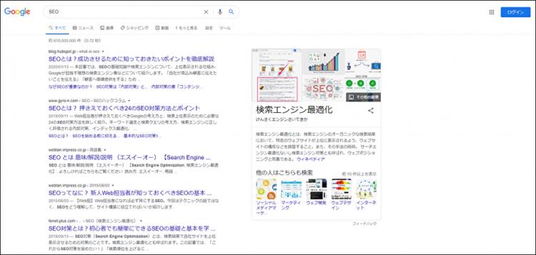 意味:SERP(サープ:Search Engine Result Page)とは
