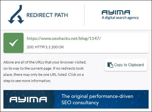 拡張機能:Redirect Path