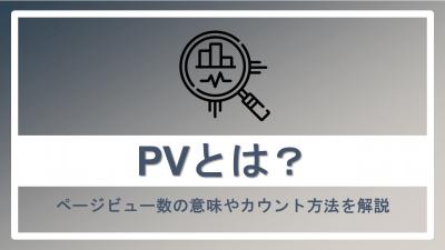 PVとは?